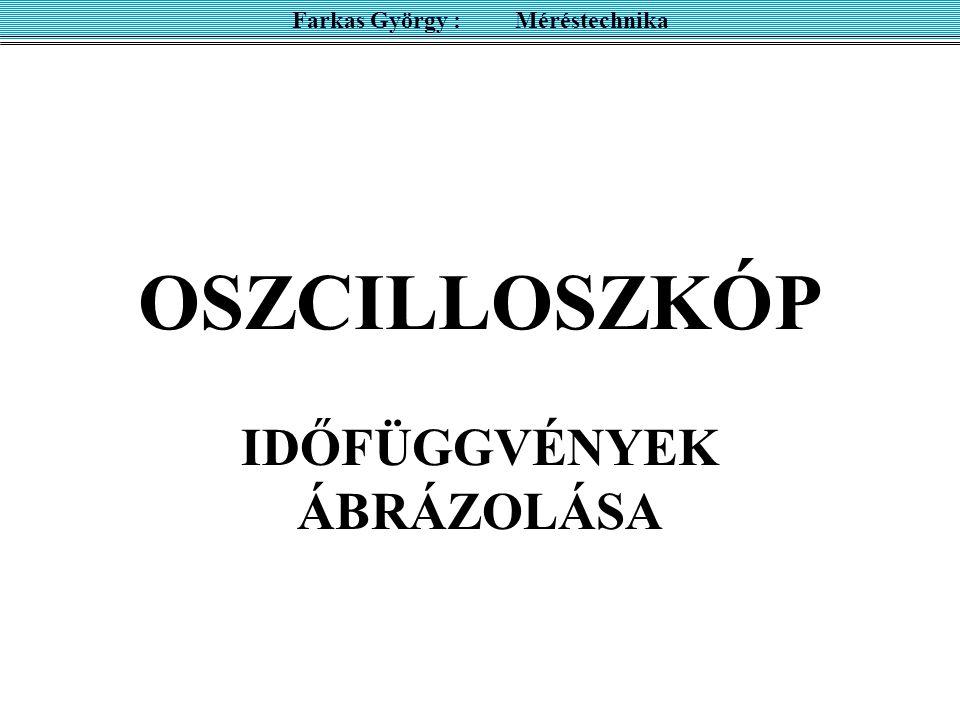 OSZCILLOSZKÓP IDŐFÜGGVÉNYEK ÁBRÁZOLÁSA Farkas György : Méréstechnika