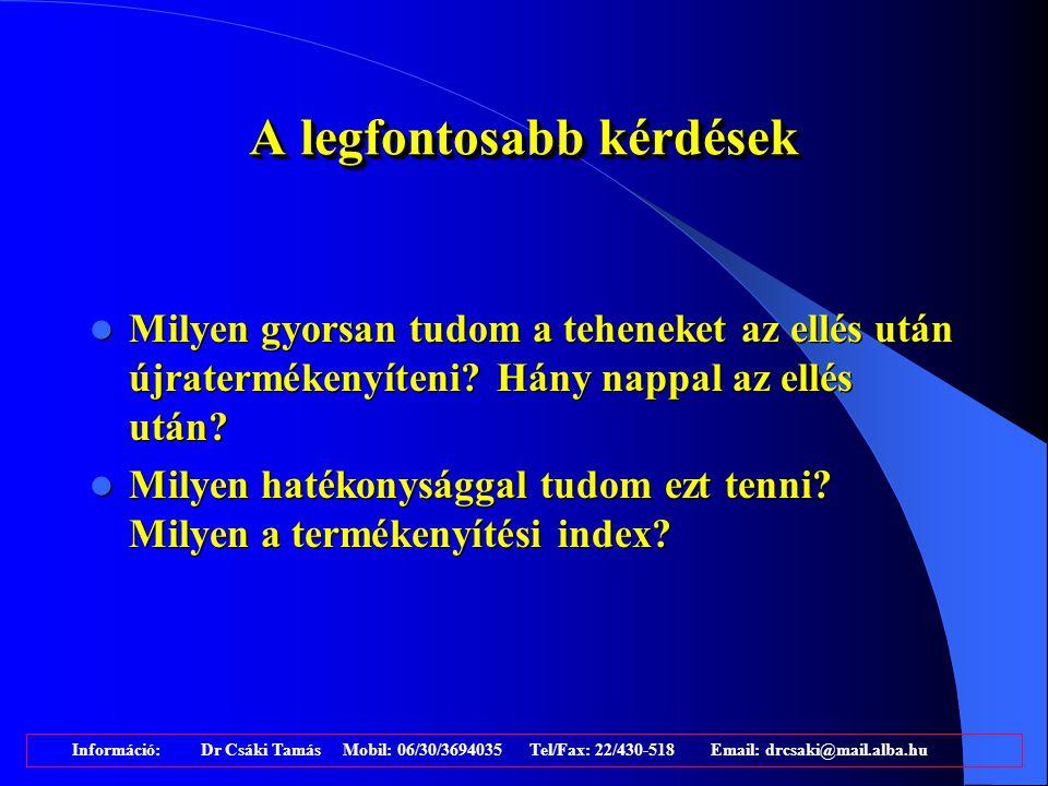 Információ: Dr Csáki Tamás Mobil: 06/30/3694035 Tel/Fax: 22/430-518 Email: drcsaki@mail.alba.hu 60-75%
