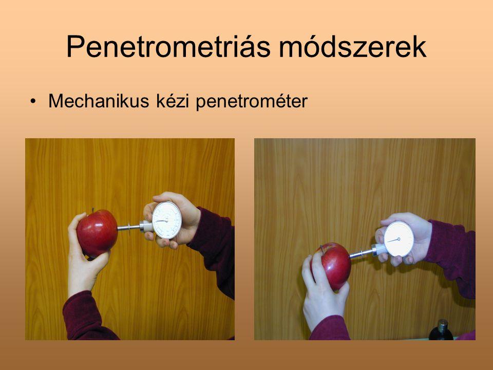 Penetrometriás módszerek •Mechanikus kézi penetrométer