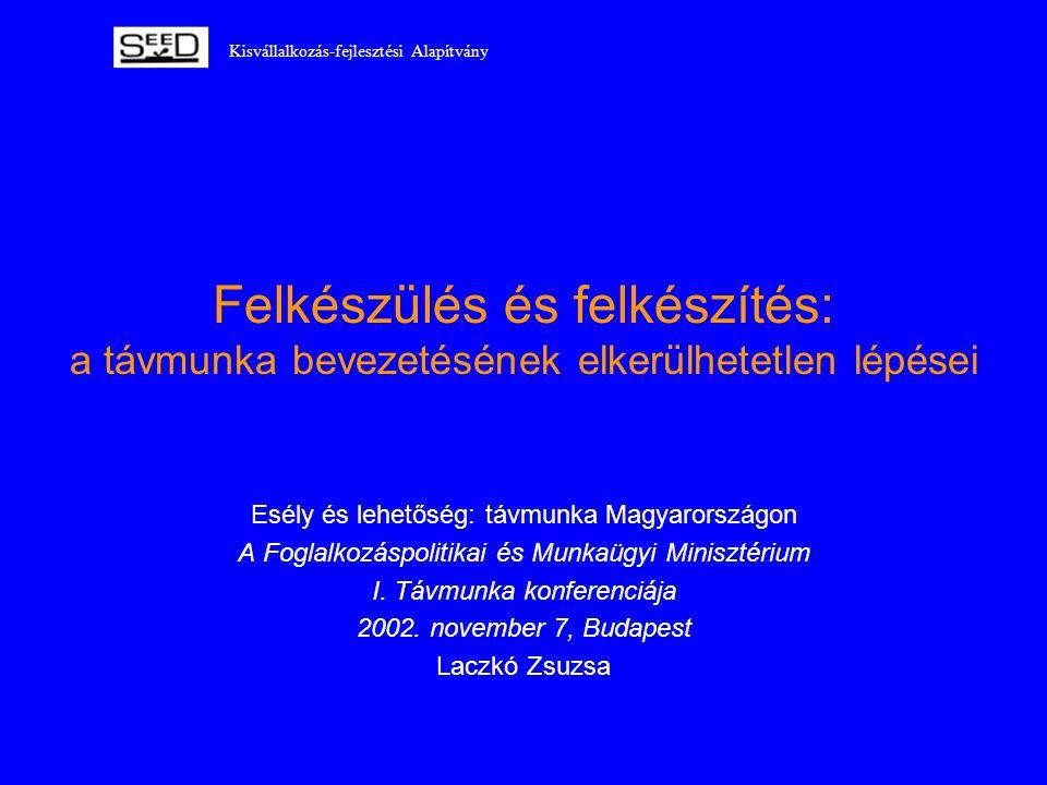 Kisvállalkozás-fejlesztési Alapítvány Felkészülés és felkészítés: a távmunka bevezetésének elkerülhetetlen lépései Esély és lehetőség: távmunka Magyar
