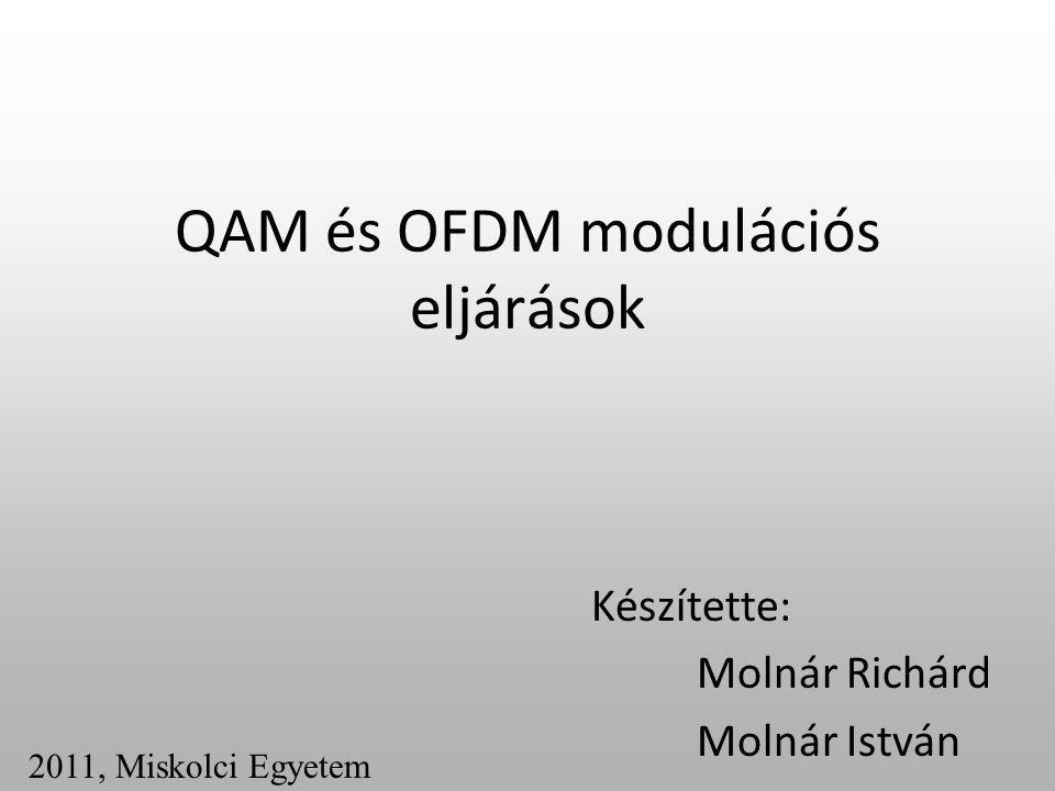 QAM és OFDM modulációs eljárások Készítette: Molnár Richárd Molnár István 2011, Miskolci Egyetem