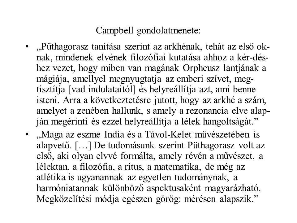 """•""""Püthagorasz tanítása szerint az arkhénak, tehát az első ok- nak, mindenek elvének filozófiai kutatása ahhoz a kér-dés- hez vezet, hogy miben van mag"""