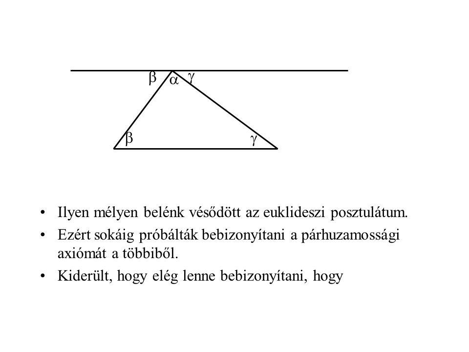 •Ilyen mélyen belénk vésődött az euklideszi posztulátum.