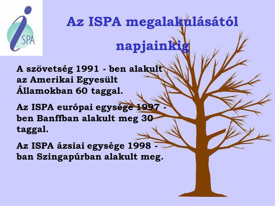 Ki vagy mi is az ISPA? Az ISPA egy, a Spa-ágazat világszerte elismert szervezete ill. egyesülése. A tagok színes palettáján szerepelnek fürdőkön, szál