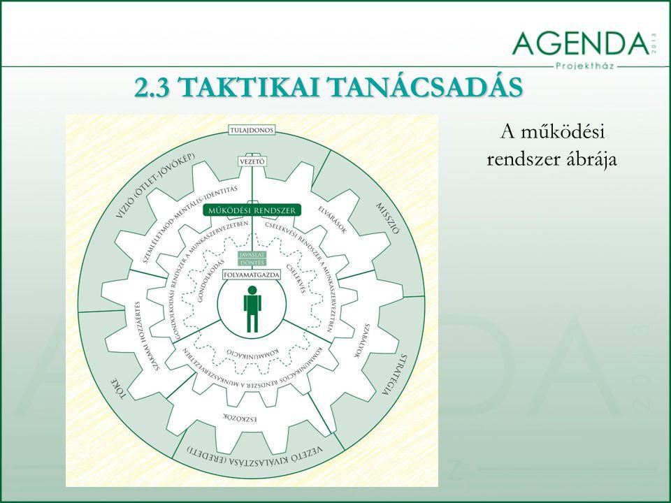 A működési rendszer ábrája 2.3 TAKTIKAI TANÁCSADÁS