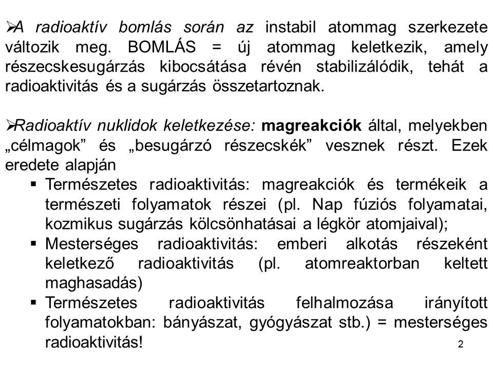 """13 Az ionizáló sugárzás determinisztikus hatása = SUGÁRBETEGSÉG •Akut = """"azonnali hatás (napok alatt megnyilvánul, kivéve: hályog) •Minden szövettípusra, hatásra küszöbdózis vonatkozik •A küszöb alatt NINCS káros hatás •A küszöb fölött a hatás súlyossága függ a dózistól •Az ok – okozat viszony könnyen felismerhető!"""