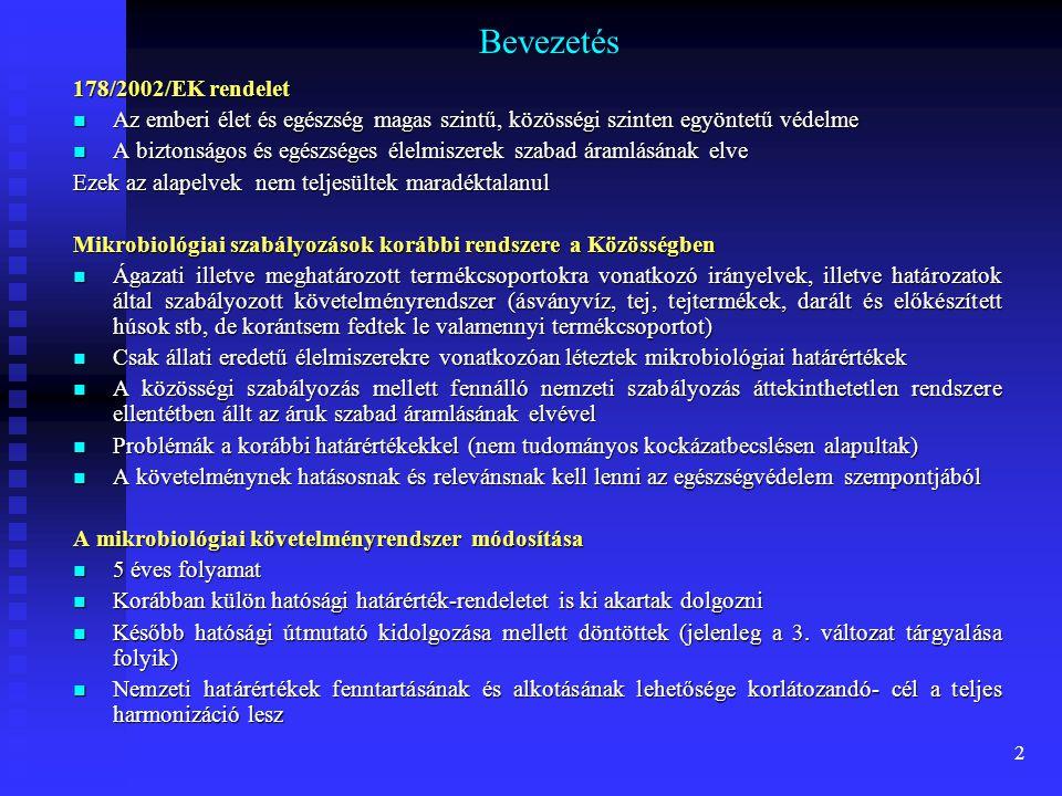 Zöldségek, gyümölcsök, diófélék Baktériumok  Salmonella  Shigella  Vibrio cholerae  Listeria monocytogenes  Enterotoxikus E.