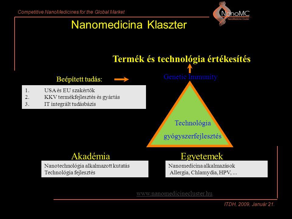 Competitive NanoMedicines for the Global Market ITDH, 2009, Január 21.