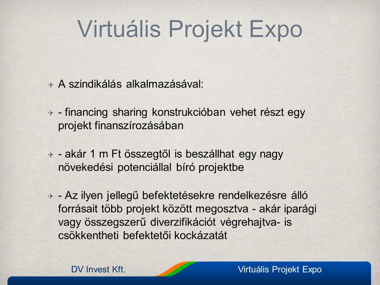 A szindikálás alkalmazásával: - financing sharing konstrukcióban vehet részt egy projekt finanszírozásában - akár 1 m Ft összegtől is beszállhat egy n