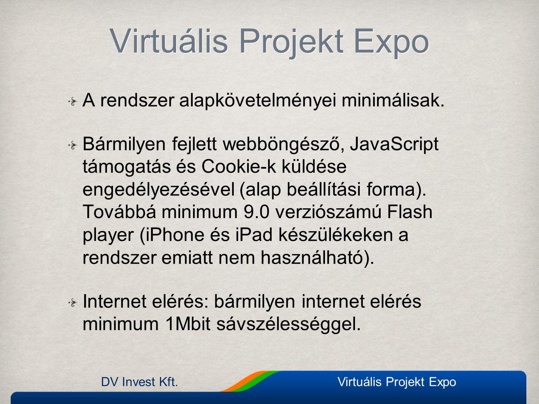DV Invest Kft.Virtuális Projekt Expo Technikai segítség chat Technikai segítség nyújtás nyílt chat formájában Technikai segítség nyújtás nyílt chat formájában