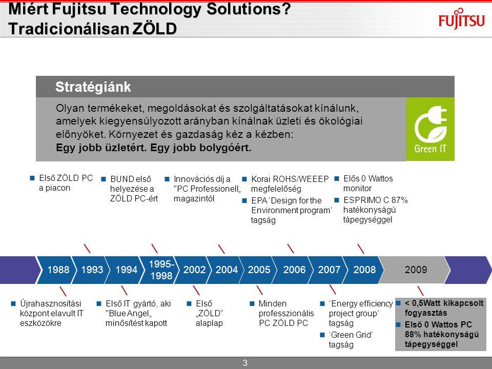 < 0,5Watt kikapcsolt fogyasztás  Első 0 Wattos PC 88% hatékonyságú tápegységgel 3 Olyan termékeket, megoldásokat és szolgáltatásokat kínálunk, amel
