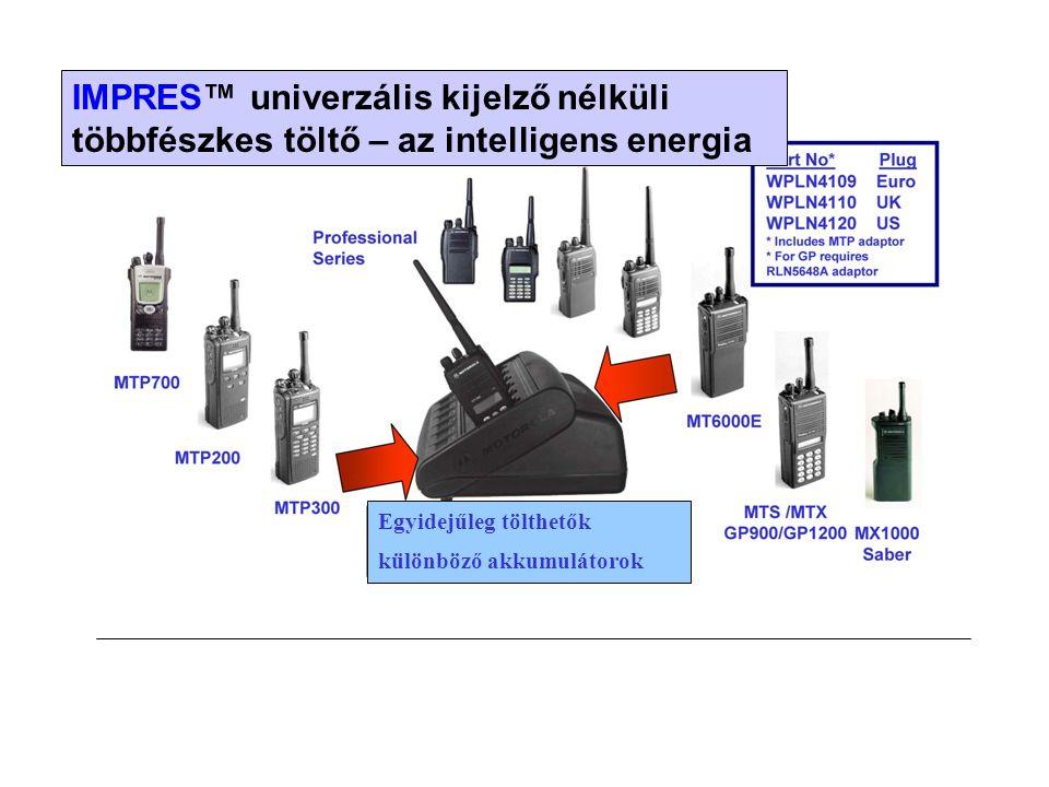 IMPRES™ univerzális kijelző nélküli többfészkes töltő – az intelligens energia Egyidejűleg tölthetők különböző akkumulátorok