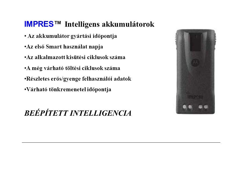 IMPRES™ Akkumulátorok Standarad Akkumulátorok MTP 700  MTP200 / MTP 300  GP Professional sorozat akkumulátorai (kivéve GP344/388)  MT6000E  MTS / MTX / GP900 / GP1200  MX1000 / Saber  ENERGIA MEGOLDÁSOK Széles portfólió – a kevert flották számára készült