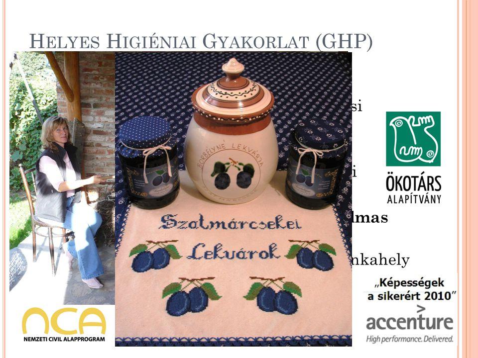 H ELYES H IGIÉNIAI G YAKORLAT (GHP) Értékesítési célból, a magánlakóházi szintű élelmiszer-előállítókra vonatkozóan, a 852/2004/EK európai parlamenti