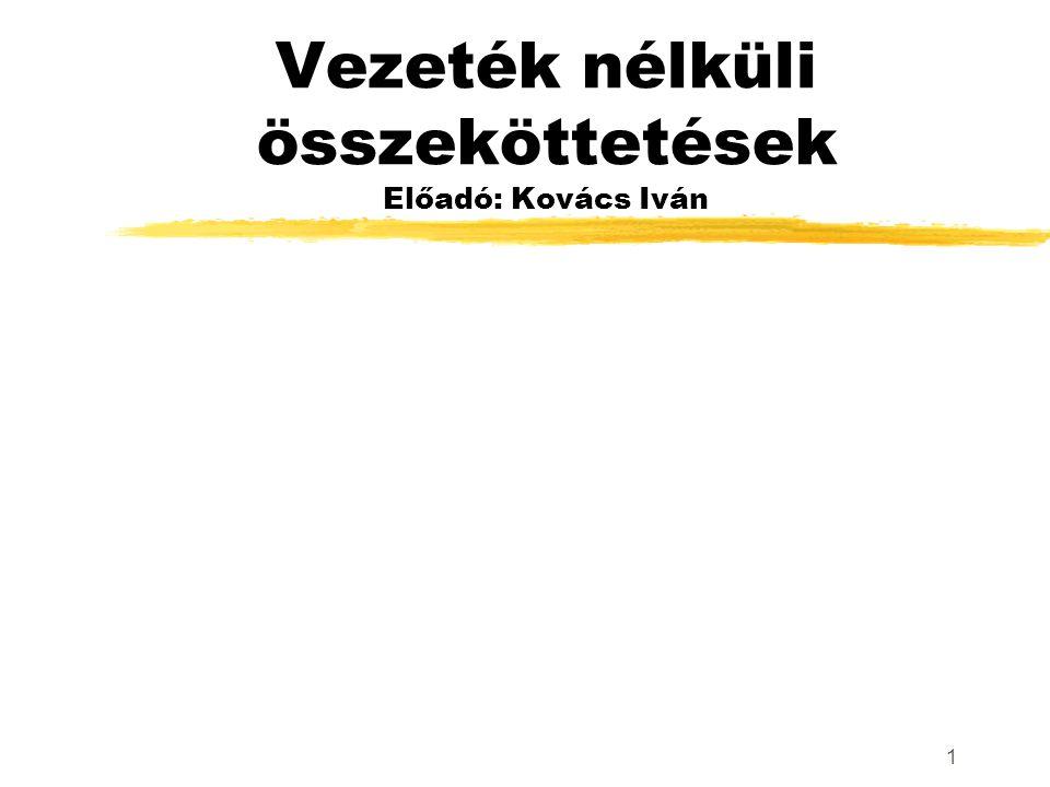 1 Vezeték nélküli összeköttetések Előadó: Kovács Iván