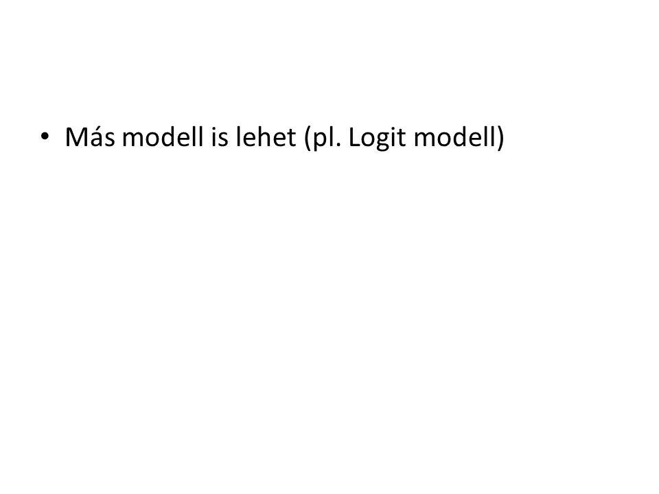 • Más modell is lehet (pl. Logit modell)