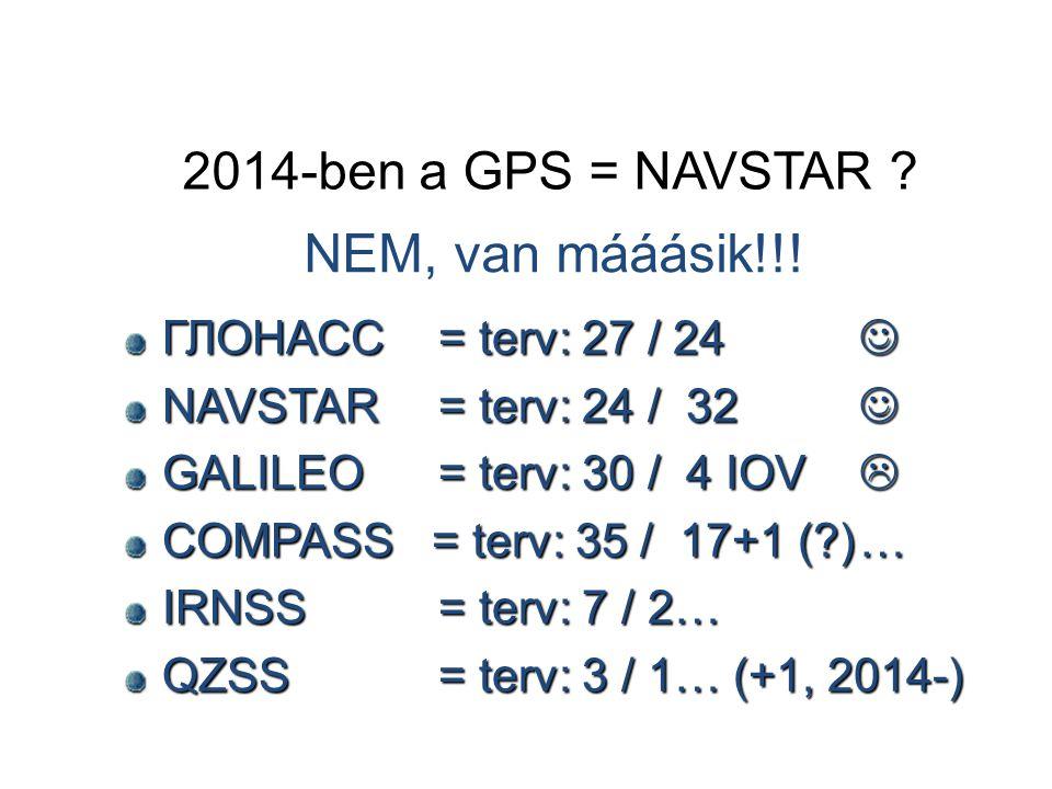 2014-ben a GPS = NAVSTAR .NEM, van mááásik!!.