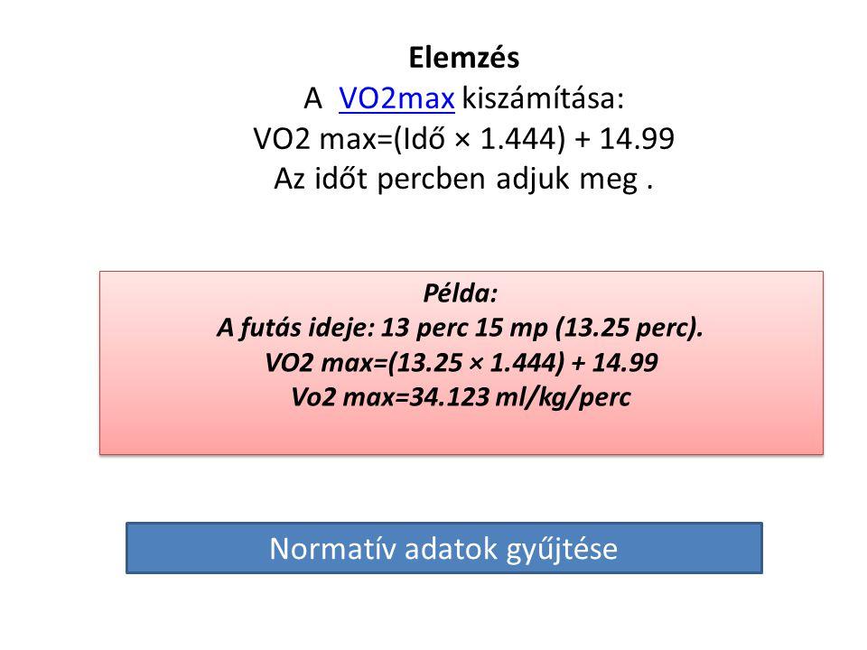 A teszt lefolytatása • A VSZ feladata, hogy olyan hosszú ideig fusson az alábbi beállításokkal, ameddig bír. • Kezdeti sebesség: 8.05km/hr, emelkedő: