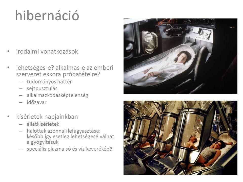 hibernáció • irodalmi vonatkozások • lehetséges-e.