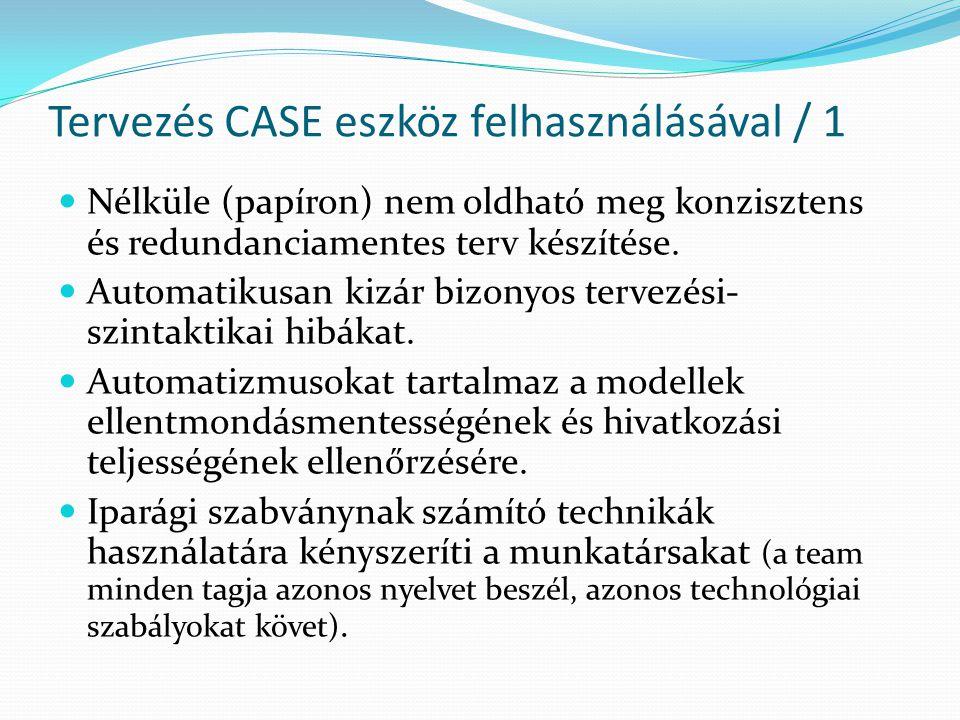Tervezés CASE eszköz felhasználásával / 2  Támogatja a csoportmunkát.