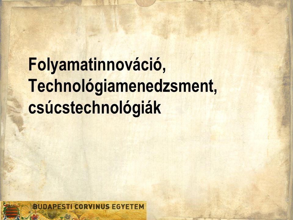 Folyamatinnováció, Technológiamenedzsment, csúcstechnológiák