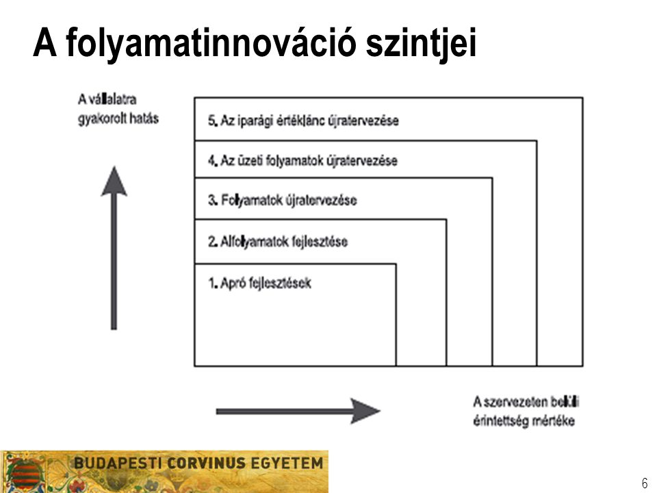 A folyamatinnováció szintjei 6