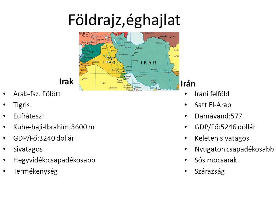 Földrajz,éghajlat Irak • Arab-fsz.