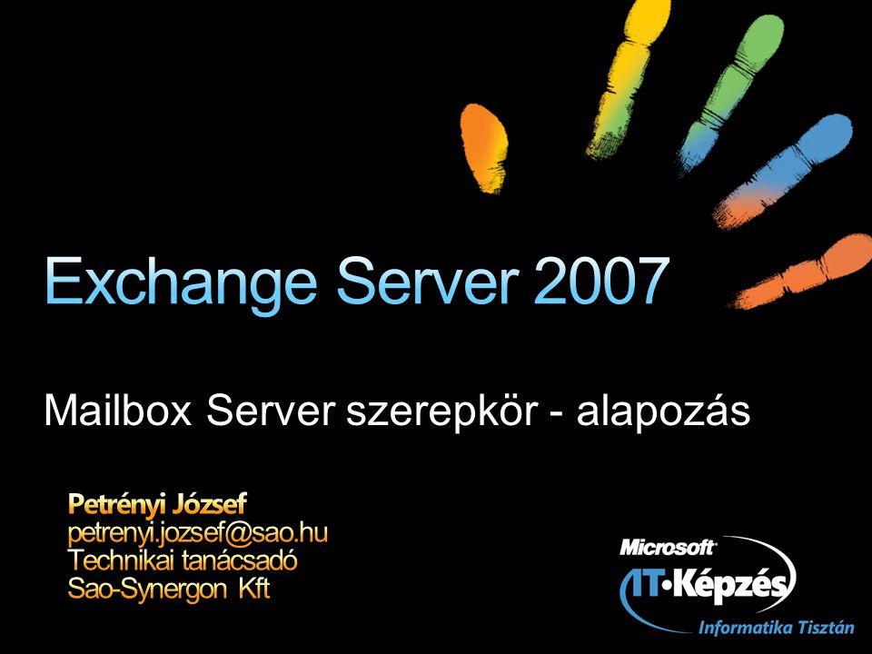 Exchange 2000/3 Active Directory Users & Computers konzol (ADUC) Exchange System Management konzol (ESM)