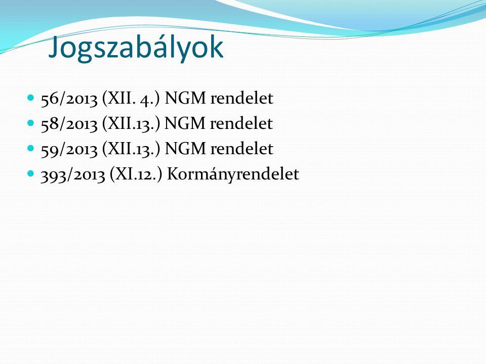 Jogszabályok  56/2013 (XII.