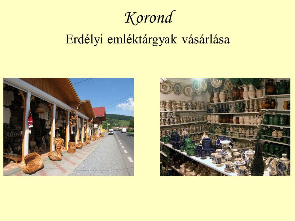 Korond Erdélyi emléktárgyak vásárlása
