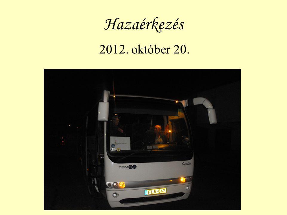 Hazaérkezés 2012. október 20.