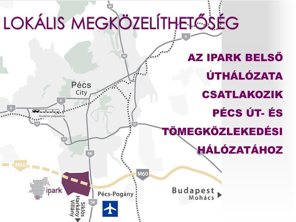  2 km úthálózat  2,5 km szennyvíz-, víz-, csapadékvíz hálózat