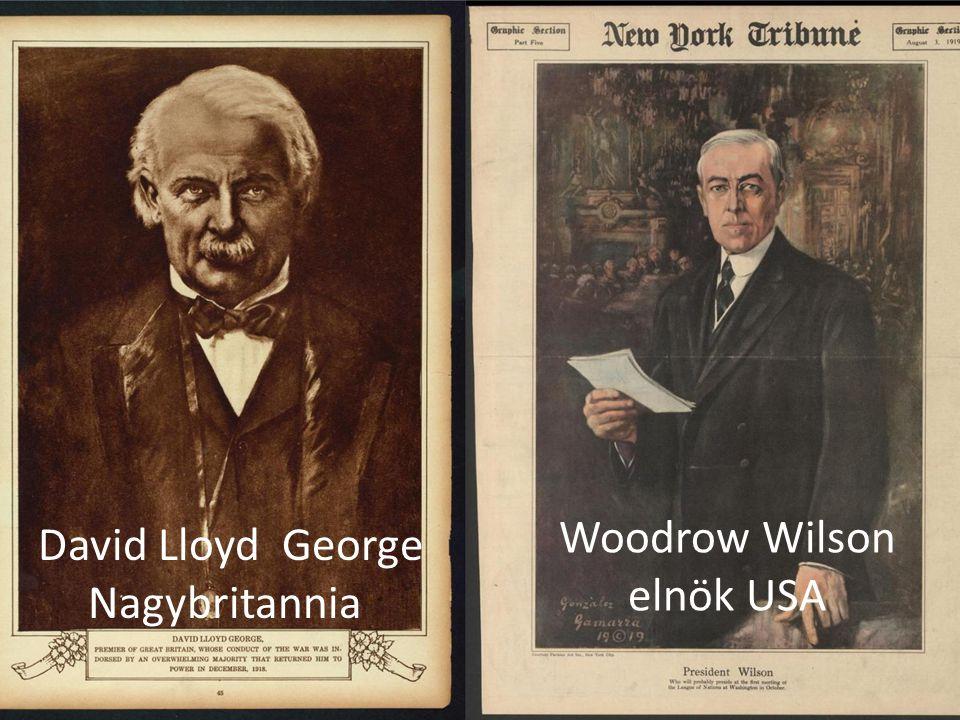 David Lloyd George Nagybritannia Woodrow Wilson elnök USA