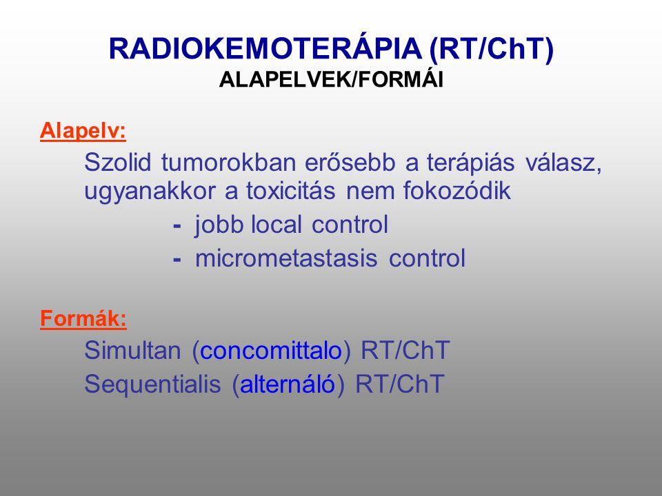 NEOADJUVANS RADIOKEMOTERÁPIA Evidencia I: Sauer R., Becker H, Hohenberger W, et al.