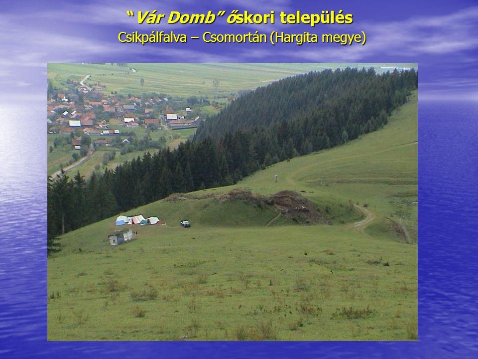"""""""Vár Domb"""" őskori település Csikpálfalva – Csomortán (Hargita megye)"""