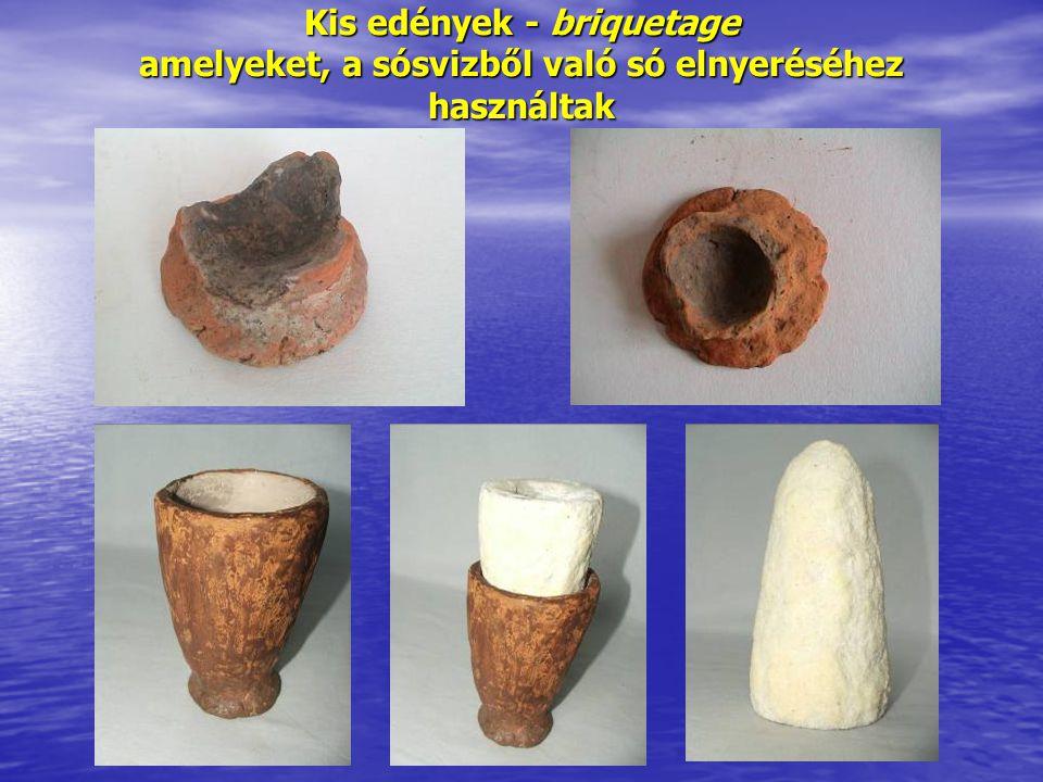Kis edények - briquetage amelyeket, a sósvizből való só elnyeréséhez használtak