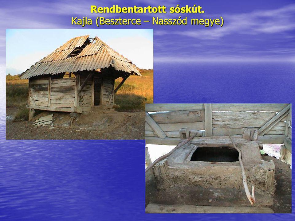 Rendbentartott sóskút. Kajla (Beszterce – Nasszód megye)