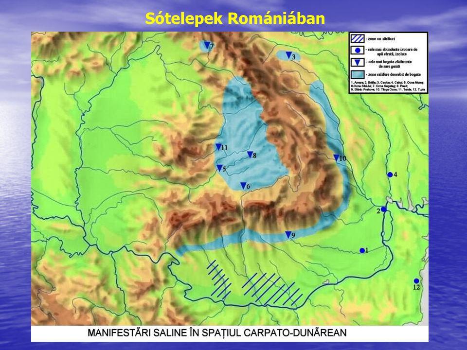 Sótelepek Romániában