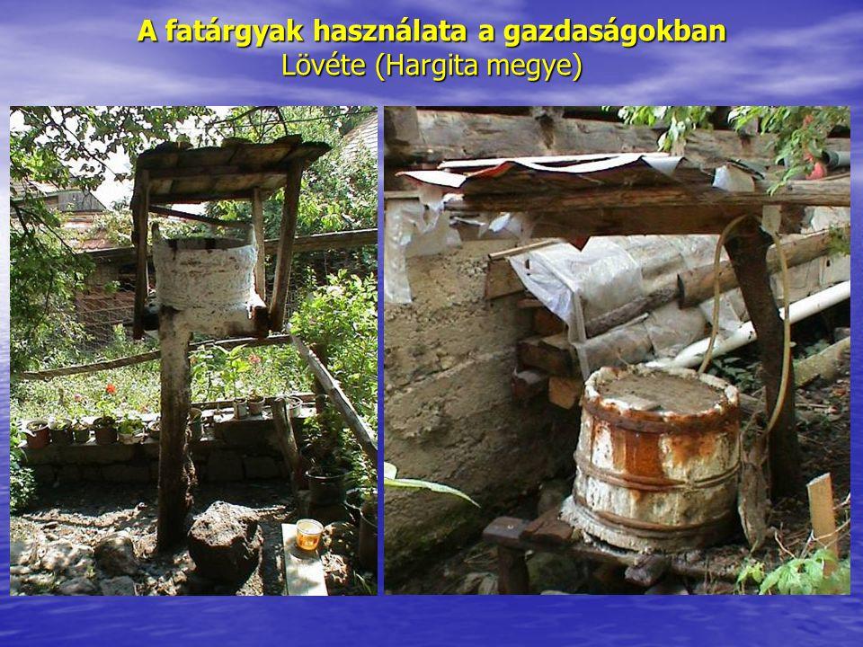 A fatárgyak használata a gazdaságokban Lövéte (Hargita megye)