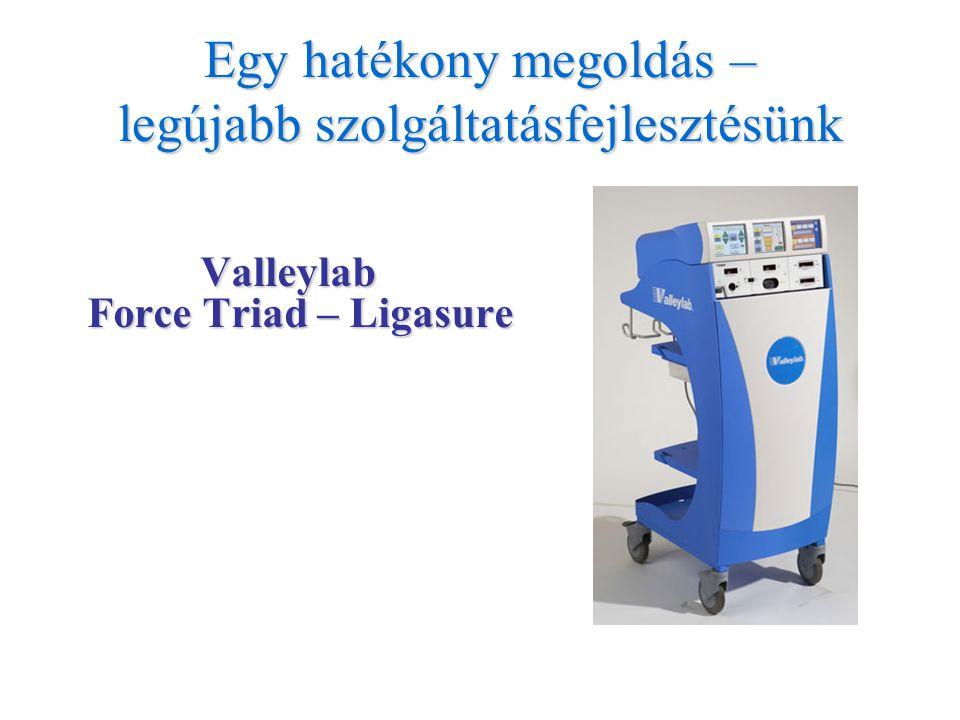 Egy hatékony megoldás – legújabb szolgáltatásfejlesztésünk Valleylab Force Triad – Ligasure Valleylab Force Triad – Ligasure