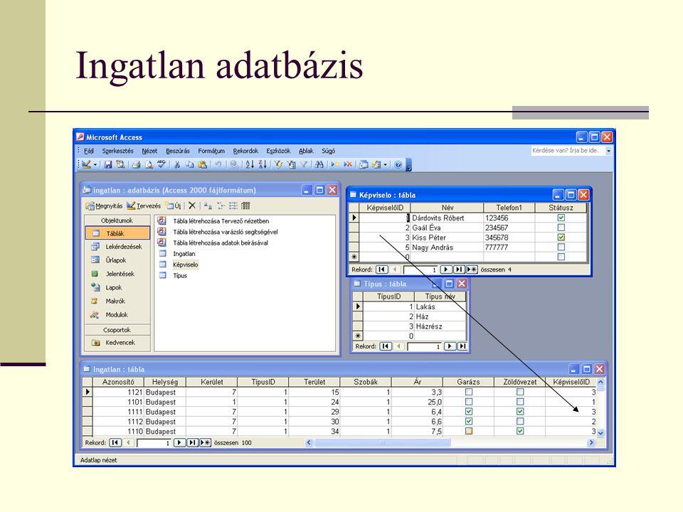 Ingatlan adatbázis
