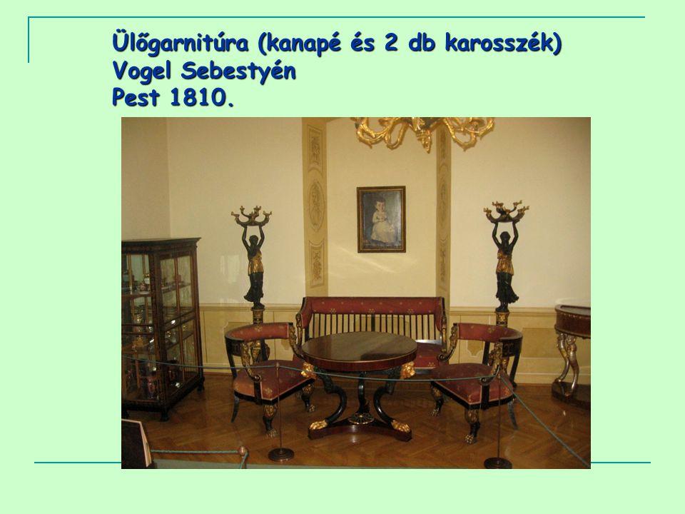 Ülőgarnitúra (kanapé és 2 db karosszék) Vogel Sebestyén Pest 1810.
