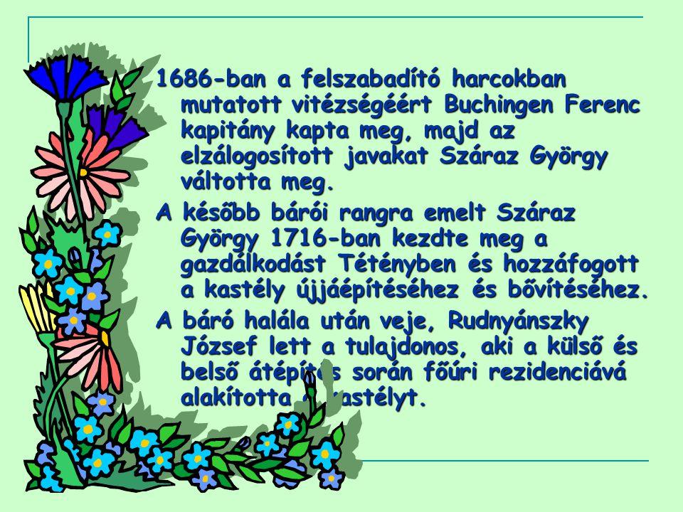 Rudnyánszkyné Száraz Julianna halála után a kastélyt három részre osztva, a család oldalági leszármazottai örökölték.