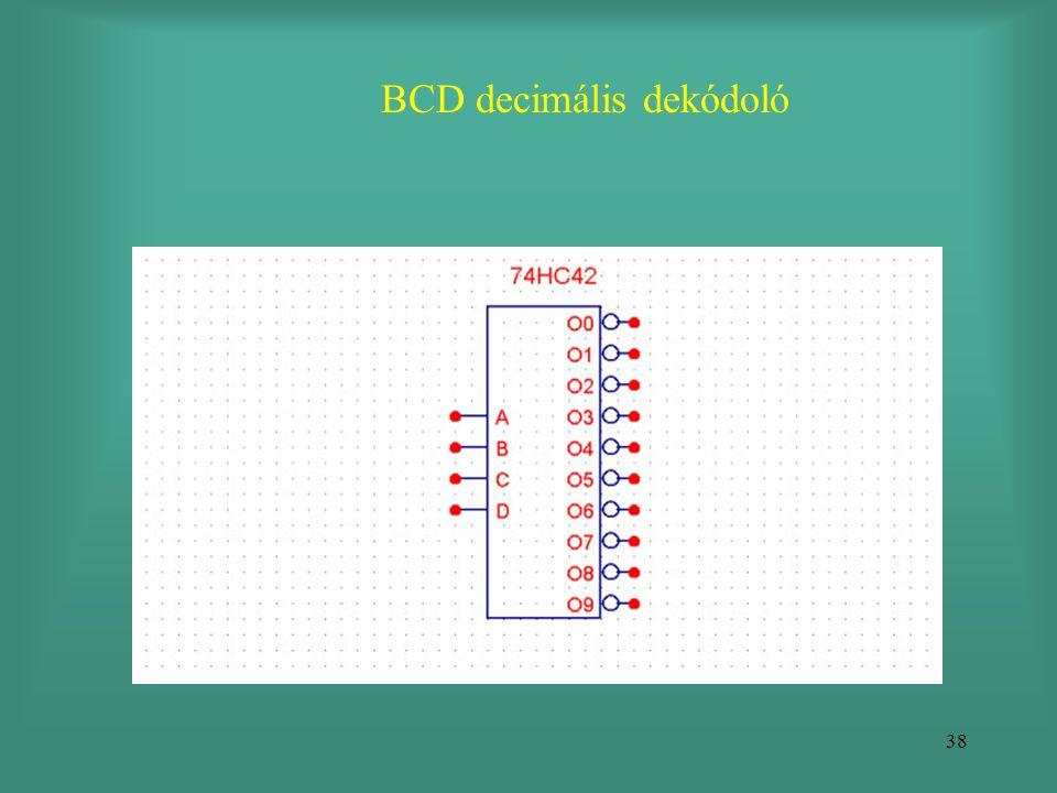 38 BCD decimális dekódoló