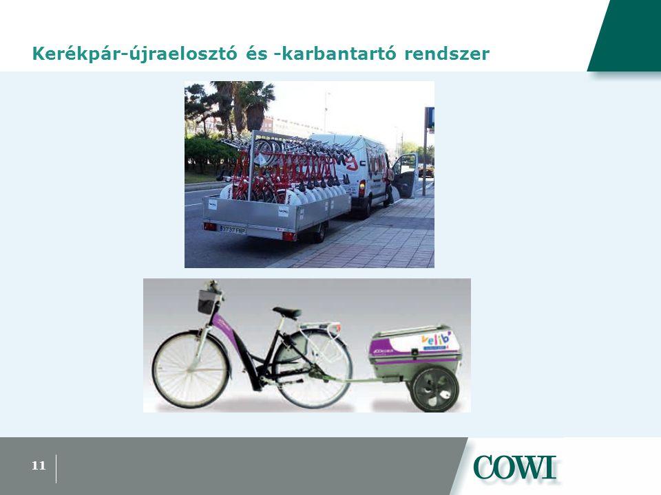 11 Kerékpár-újraelosztó és -karbantartó rendszer