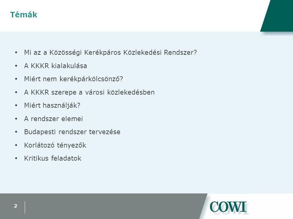 13 Budapest - Területi lehatárolás  Körzetenkénti adatok: –Demográfiai (KSH) –Gazdasági (KSH) –Oktatási (KSH) –Helyváltoztatások (BKV házt.felv.)  Közösségi közlekedés  Kerékpározhatóság –Adottságok –Infrastruktúra –Közúti közlekedés