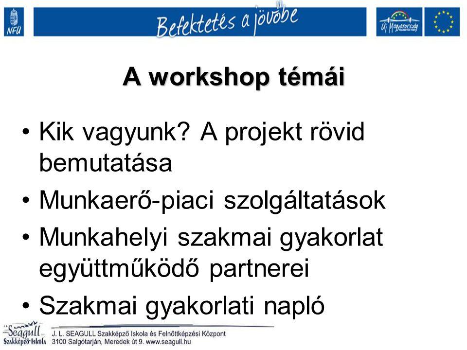 A workshop témái •Kik vagyunk.