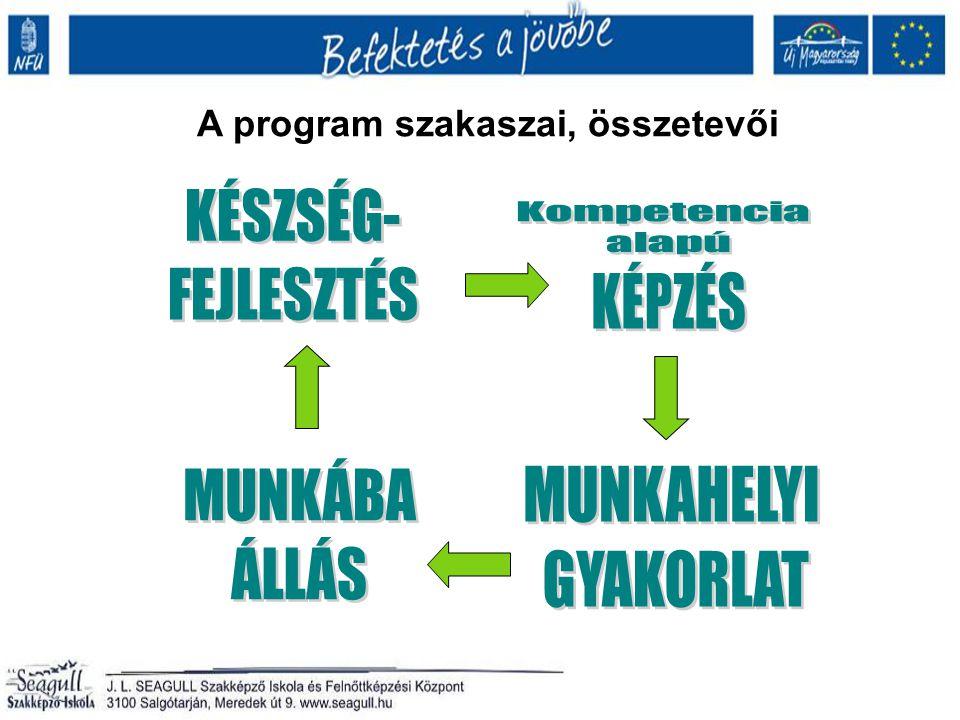 A program szakaszai, összetevői