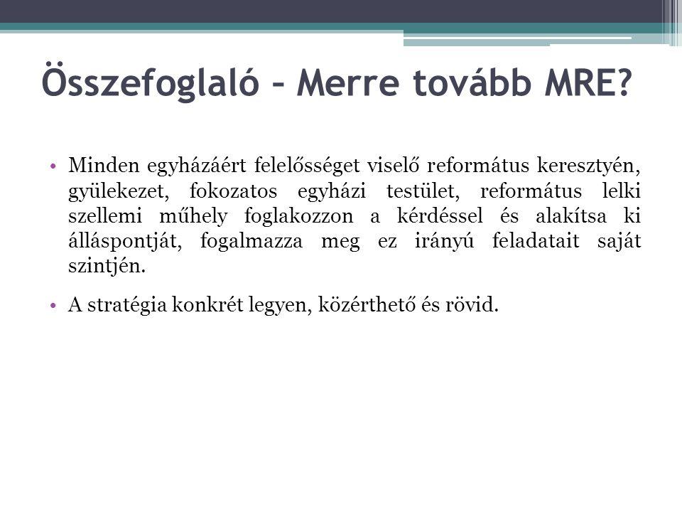 Összefoglaló – Merre tovább MRE.