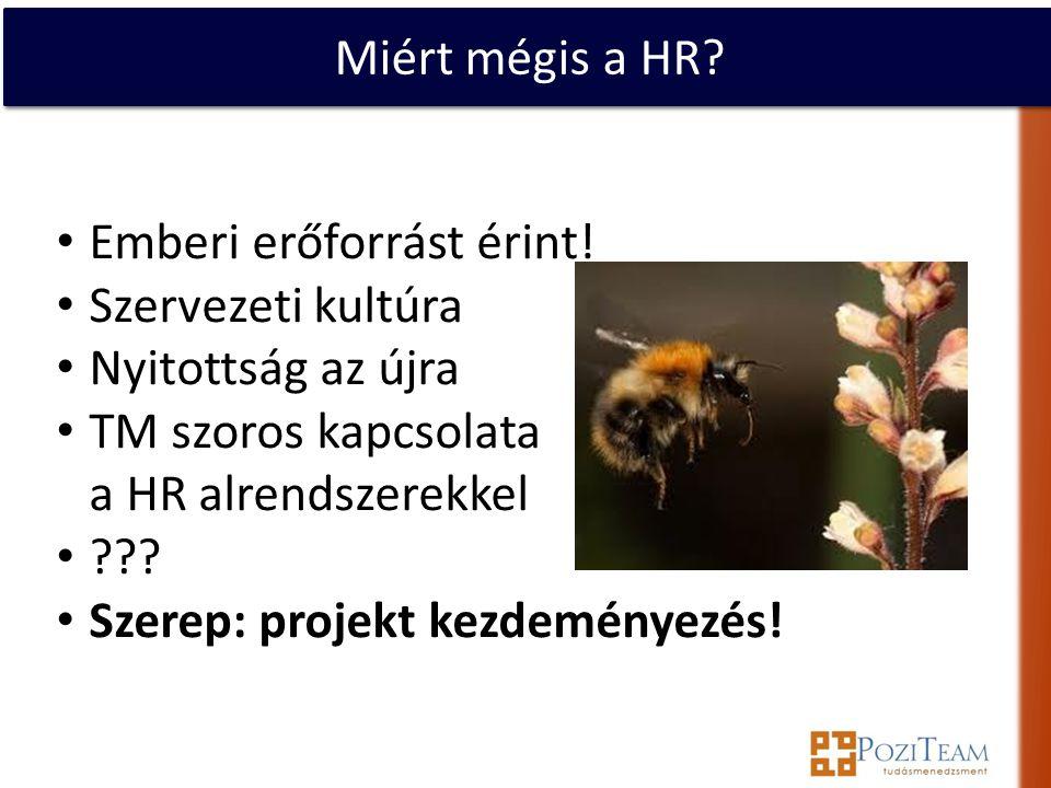 Miért mégis a HR. • Emberi erőforrást érint.